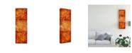 "Trademark Global Pablo Esteban Stencils Over Red Tones 6 Canvas Art - 19.5"" x 26"""