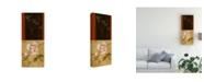 "Trademark Global Pablo Esteban Flowers and Line Art 2 Canvas Art - 27"" x 33.5"""
