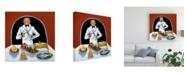 "Trademark Global Patricia A. Reed Garcon Buffet Canvas Art - 15.5"" x 21"""