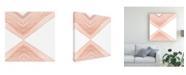 "Trademark Global Emma Scarvey Pink Apogee I Canvas Art - 15.5"" x 21"""