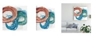 "Trademark Global Ethan Harper Overlapping Rings II Canvas Art - 19.5"" x 26"""