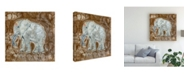 "Trademark Global Tara Daavettila Global Elephant II Canvas Art - 15.5"" x 21"""