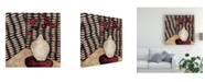 "Trademark Global Judi Bagnato Retro White Vase Canvas Art - 36.5"" x 48"""