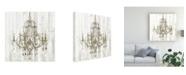 "Trademark Global Jennifer Goldberger Shiplap Chandelier II Canvas Art - 15.5"" x 21"""