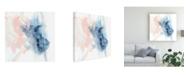 "Trademark Global Ethan Harper Indigo and Blush III Canvas Art - 15.5"" x 21"""