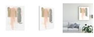 "Trademark Global June Erica Vess Blush Abstract IV Canvas Art - 27"" x 33.5"""