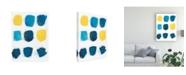 "Trademark Global June Erica Vess Lemon and Indigo I Canvas Art - 27"" x 33.5"""