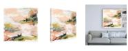 "Trademark Global June Erica Vess Blush and Navy Vista I Canvas Art - 15.5"" x 21"""