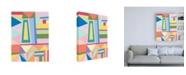 "Trademark Global Nikki Galapon Confetti Structure I Canvas Art - 15.5"" x 21"""