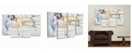 "Trademark Global Pat Saunders-White Sleeping Beauty Multi Panel Art Set 6 Piece - 49"" x 19"""