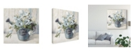 "Trademark Global Danhui Nai Garden Blooms Ii Blue Crop Canvas Art - 27"" x 33"""