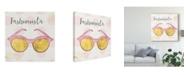 """Trademark Global Jess Aiken Fashion Blooms IV Pink Canvas Art - 27"""" x 33"""""""
