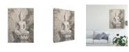 "Trademark Global Danhui Nai Buddha Neutral Canvas Art - 37"" x 49"""