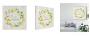 "Trademark Global Danhui Nai Floursack Lemon V Canvas Art - 15"" x 20"""