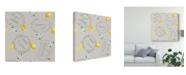 "Trademark Global Danhui Nai Floursack Lemon Pattern V Canvas Art - 15"" x 20"""