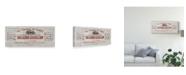 "Trademark Global Wild Apple Portfolio Animal Bill of Sales I Gray Wood Canvas Art - 37"" x 49"""