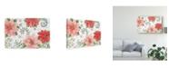 "Trademark Global Daphne Brissonnet Country Poinsettias I Canvas Art - 20"" x 25"""