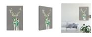 """Trademark Global Jennifer Goldberger Solitary Deer II Canvas Art - 20"""" x 25"""""""