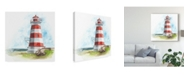 "Trademark Global Naomi Mccavitt Watercolor Lighthouse I Canvas Art - 15"" x 20"""