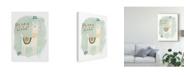 "Trademark Global June Erica Vess Llama Squad II Canvas Art - 37"" x 49"""
