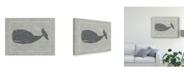 "Trademark Global Chariklia Zarris Whale of a Tale IV Canvas Art - 20"" x 25"""