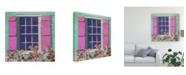 "Trademark Global Rick Novak Window Floral II Canvas Art - 27"" x 33"""