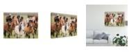 "Trademark Global PH Burchett Grassland Horses III Canvas Art - 37"" x 49"""