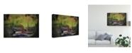 "Trademark Global Christine Sainte-Laudy My Friend the Moon Canvas Art - 37"" x 49"""