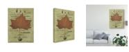 "Trademark Global Sandy Lloyd Autumn Leaf II Canvas Art - 20"" x 25"""