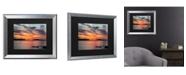 """Trademark Global Pierre Leclerc Sunset Pier Matted Framed Art - 27"""" x 33"""""""