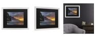 "Trademark Global Pierre Leclerc Napali Sunset Kauai Matted Framed Art - 20"" x 25"""