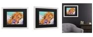 "Trademark Global Pat Saunders-White Snoozer King Matted Framed Art - 20"" x 25"""