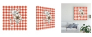 "Trademark Global Danhui Nai Sketchbook Garden VII Red Checker Canvas Art - 15"" x 20"""