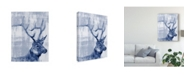 "Trademark Global Jennifer Goldberger Indigo Elk Canvas Art - 15"" x 20"""