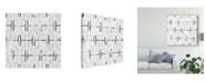 "Trademark Global June Erica Vess Monoprint Tile I Canvas Art - 20"" x 25"""