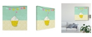 "Trademark Global Chariklia Zarris Retro Birthday IV Canvas Art - 15"" x 20"""