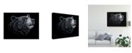 "Trademark Global Patrick Lamontagne Black White Black Bear Canvas Art - 15"" x 20"""