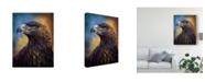 "Trademark Global Patrick Lamontagne Golden Eagle Illustration Canvas Art - 20"" x 25"""