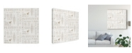 "Trademark Global Danhui Nai Maison Des Fleurs Pattern V Canvas Art - 20"" x 25"""