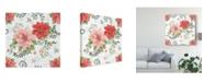 "Trademark Global Daphne Brissonnet Country Poinsettias Step 01C Canvas Art - 20"" x 25"""