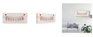 """Trademark Global Kathleen Parr Mckenna Rustic Valentine Banner III Canvas Art - 37"""" x 49"""""""
