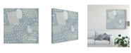 "Trademark Global Moira Hershey Calm World Map Pattern XI Canvas Art - 20"" x 25"""