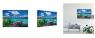 "Trademark Global Philippe Sainte-Laudy Sunny Day Coastline Canvas Art - 20"" x 25"""