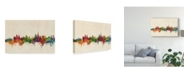 "Trademark Global Michael Tompsett Lausanne Switzerland Skyline Canvas Art - 15"" x 20"""