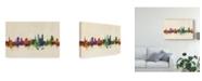 "Trademark Global Michael Tompsett St Gallen Switzerland Skyline Canvas Art - 15"" x 20"""