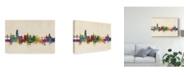 "Trademark Global Michael Tompsett Fribourg Switzerland Skyline Canvas Art - 20"" x 25"""
