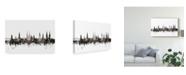 "Trademark Global Michael Tompsett Lubeck Germany Skyline Black White Canvas Art - 37"" x 49"""