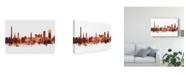 "Trademark Global Michael Tompsett Erlangen Germany Skyline Red Canvas Art - 15"" x 20"""