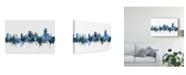 "Trademark Global Michael Tompsett Swansea Wales Skyline Blue Canvas Art - 15"" x 20"""