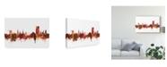"""Trademark Global Michael Tompsett Cheltenham England Skyline Red Canvas Art - 15"""" x 20"""""""